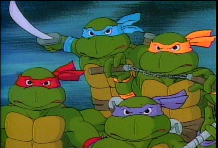 Les tortues ninja dessin anim - Tortue ninja couleur ...